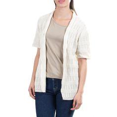 Novica Handcrafted 'Casual Cream' Cardigan Sweater
