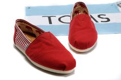 Toms Womens Mazarine Split Joint Stripe Charming Red