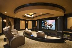 Home Theater Design - Lacking nothing - including the home theater system.