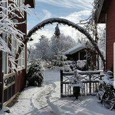 """Karin Stigsdotter (@79392) på Instagram: """"Snön som kom här om dagen har regnat bort och det är nu barmark igen ~ vi har oväxlande väder,…"""" Let It Snow, Christmas Inspiration, Coastal, Rustic, Country, Instagram Posts, Outdoor, Country Primitive, Outdoors"""