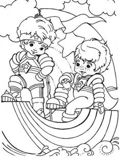 Rainbow Brite Was Playing With The Familiar Friends Coloring Page For Kids