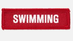 'Swimming' woven cloth badge with overlocked edges, various colours are available. *colours may vary slightly in shade due to differing monitor colours and manufacturing processes Size Badges, Monitor, Swimming, Colours, Clothes, Shopping, Swim, Outfits, Outfit Posts