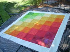 the beginnings of a twister quilt