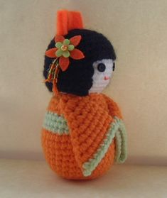 Crochet Kokeshi Doll Side by sophiecat91, via Flickr