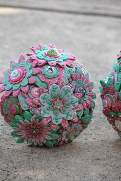Custom Color 12 Stem Bridesmaid Felt and Button by RBKCreations, $75.00