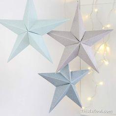 DIY navideño - Imprime tantas estrellas como quieras y prepara tu propia decoración navideña.
