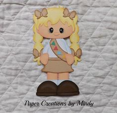Cadette-Girl-Scout-premade-paper-piecing-for-scrapbooks-pages-albums-borders