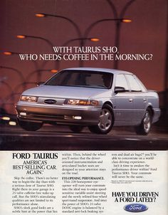 When performance sold cars – Ford's 1994 Taurus SHO Mk1, Ford Taurus Sho, Car Brochure, Ford Classic Cars, Car Advertising, Us Cars, Self Driving, Car Ford, Ford Motor Company