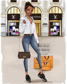 When Disney princesses go shopping by Anastasia Kosyanova Design of . - New Ideas - Trend Disney Stuff 2019 Disney Princess Fashion, Disney Princess Pictures, Disney Princess Drawings, Disney Princess Art, Disney Drawings, Disney Style, Disney Art, Disney Pixar, Drawing Disney