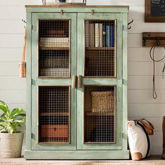 Charlie Vintage Vertical Farmhouse 2 Door Cabinet