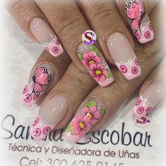 #unasdecoradas Nails & Co, Chic Nails, Fun Nails, Pretty Nail Art, Cute Nail Art, Beautiful Nail Art, Fabulous Nails, Gorgeous Nails, Mobile Nails