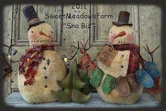 Este es un E - patrón para hacer estos muñecos de nieve 14 como se muestra. Patrón incluye muñecos, sombreros, guantes y el árbol de Navidad en