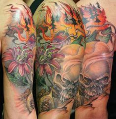 Teresa Sharpe - forest fire tattoo