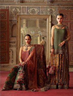 2019 Sabyasachi Charbagh Bridal Lehenga collection has a bunch of traditional red wedding lehengas, some gorgeous destination wedding outfits + lots more. Sabyasachi Dresses, Nikkah Dress, Lehenga Choli, Anarkali, Pakistani Dresses, Indian Wedding Outfits, Indian Outfits, Indian Weddings, Bridal Lehenga Collection
