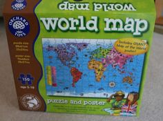 world map puzzle from orchard toys is a great educational tool