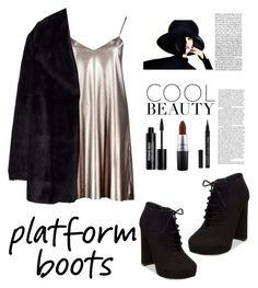 """""""Cool Gal"""" by queenofstyle96 on Polyvore featuring Boohoo, Steve Madden, Jakke, Edward Bess and MAC Cosmetics"""