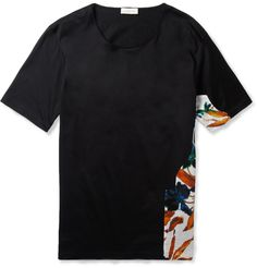 Balenciaga Panelled Cotton T-Shirt | MR PORTER