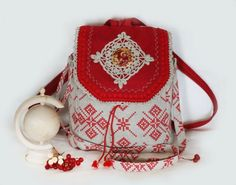 fcd7a8988645 Step to Step Tutorial how to sew a pretty bag/backpack in Russian Style -  Easy Step to Step DIY.