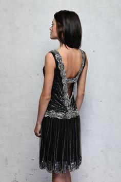 Frock and Frill Zelda Flapper Dress Black - sequined 1920s dress