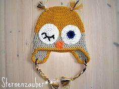 Ravelry: Eulenmütze /owl hat pattern by Ela Sternenzauber