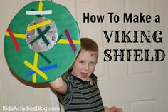 Has your child ever tried to figure out how to make a shield for protection in a pretend battle? Here are some easy steps on making a very sturdy Viking Crafts for Kids, History, Kids Activities (by Age) how to make a shield, viking shield Summer Camp Crafts, Camping Crafts, Kid Crafts, Vikings For Kids, History Classroom Decorations, Viking Shield, Magic Treehouse, History Activities, History For Kids