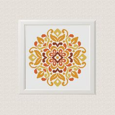 Geometric Cross Stitch traditional flower ornament ❤ ❤ ❤ You can always find and download them here: You> Purchases and reviews  ❤ PATTERN DETAILS ❤ PDF Pattern Stitches: 113 W x 113 H Fabric: 14 count, 28ct, Any fabric you like Floss: DMC (4 colors) Size: 20.50 x 20.50 cm/ 8.21 x 8.21 inch (14 count)  This pattern is in PDF JPEG format and consists of an example photo, a floss list DMC and a color and symbol chart. Pattern reading and printing is divided into sheets A4 Template image...