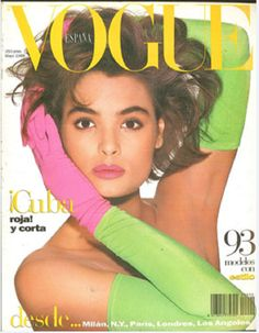 Cover with Talisa Soto May 1988 of ES based magazine Vogue Spain from Condé Nast Publications including details. Vogue Magazine Covers, Fashion Magazine Cover, Fashion Cover, Vogue Vintage, Vintage Vogue Covers, Mtv, Editorial Photography, Fashion Photography, Lifestyle Photography