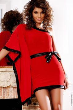 Femmes Shirt MISSY paillettes strass manches courtes noir blanc rouge Incredible S//M M//L