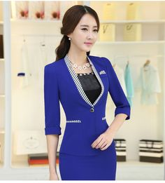 Moda mujeres Blazer Ladies ' patchwork elegante slim rayas de manga tres cuartos chaquetas femenino Outwear mujer tops S-3XL