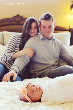 Newborn with mom & dad