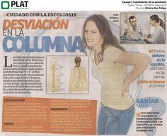 Clínica San Felipe: Causas y tratamiento de la escoliosis en el diario Trome de Perú (16/09/16)