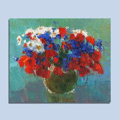 Still Life Original Oil Painting Palette Knife Painting