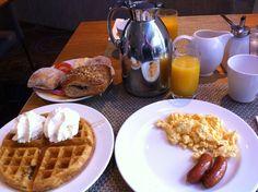 Super breakfast buffet at Hilton Slussen, Stockholm, Sweden