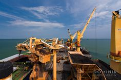 On board of Coal loading facility in Indonesia  #mining #kalimantan #shipping #indonesia #boat #ship #transport