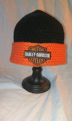 Harley Davidson beanie by ByMaybelle on Etsy, $27.50