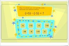 """Restar números enteros"" (Juego de Matemáticas) Math Class, Club, Activities, Diy, Ideas, Interactive Activities, Blue Prints, Maths Area, Math Games"