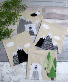 Handmade Decorative Coasters - Nature Lovers Gift - Fabric Coasters £22.00