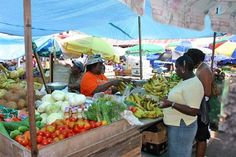 Grenada Market in St.George's, Grenada...the smells were fresh spices and ripe fruit...YUM!