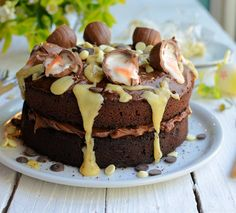Creme Egg Chocolate Drizzle Cake - Great British Chefs