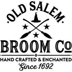 Silhouette Design Store: Old Salem Broom Co Salem Halloween, Holidays Halloween, Halloween Crafts, Halloween Decorations, Silhouette Projects, Silhouette Design, Silhouette Cameo, Vinyl Crafts, Vinyl Projects