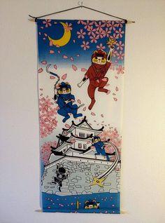 Tapestry Maneki neko tapestry Himeji  decorative tapestry