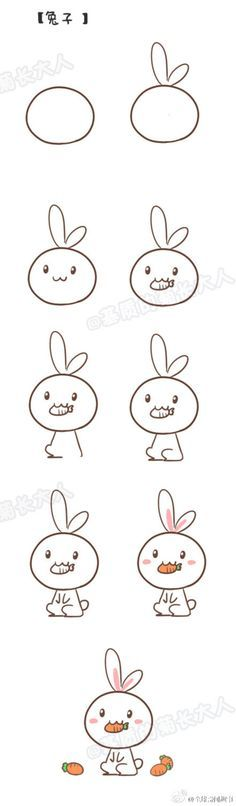 Image result for draw a kawaii bunny