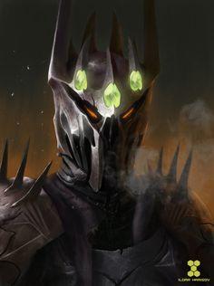 Morgoth, wearing his crown of Silmarils