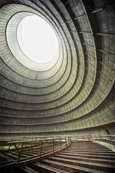 inside the cooling tower of an abandoned power plant by Photographer Richard Gubbels