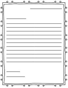 Accomplished image pertaining to letter writing template for kids