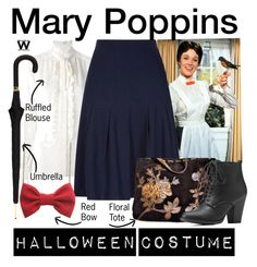 """""""Mary Poppins"""" by wearwhatyouwatch ❤ liked on Polyvore featuring Dolce&Gabbana, Kaliko, Isabella Fiore, Charlotte Russe, Alexander McQueen, disney, wearwhatyouwatch and film"""