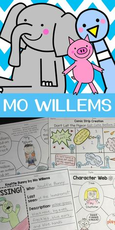 Are you reading books to your students written by the best-seller author Mo Willems? This bundle will provide you with activities about the beloved Pigeon, Elephant & Piggie, and Knuffle Bunny. Children love these characters and their endless adventures.