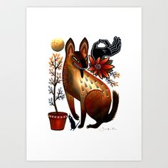 Autumn Desert Art Print by Jennifer Prior - $17.68