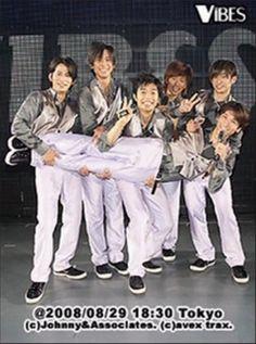V6 in2008 VIBES concert Masayuki Sakamoto Hiroshi Nagano Yoshihiko Inohara Go Morita Ken Miyake Junichi Okada Japanese Boy, Great Team, Nagano, Boy Bands