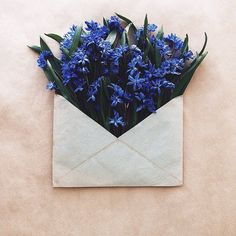 Vibrant Flowers Delicately Complement Naturally-Toned Vintage Paper Envelopes - My Modern Met